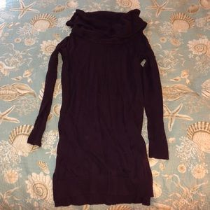 Express Purple cowl neck sweater dress
